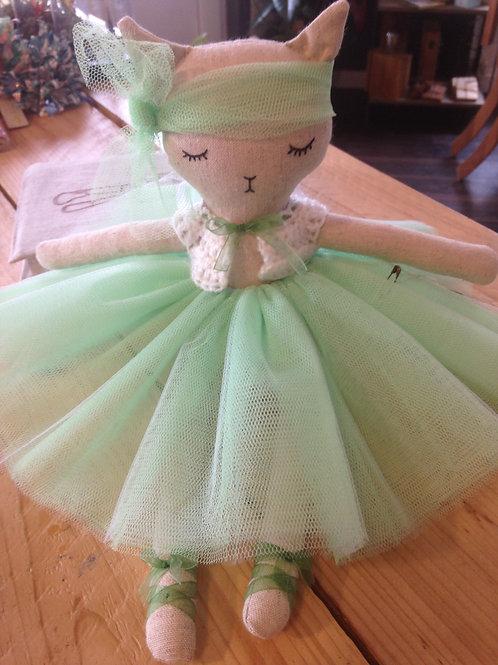 Chatte danseuse, poupée - tissus