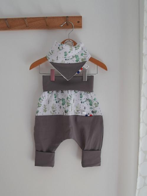 Pantalon évolution 0-2 ans Eucalyptus