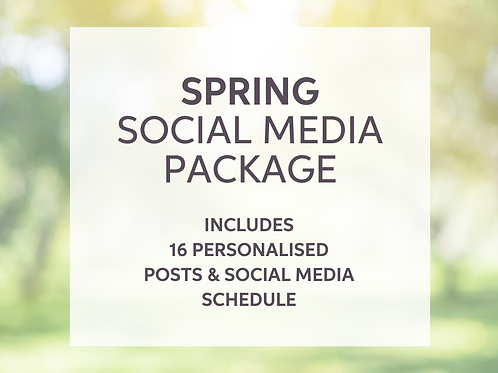 'Welcome' Spring Social Media Package