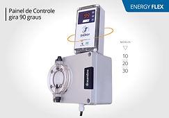 Bomba Dosadora Eletromagnética ENERGY Painel de Controle gira 90 graus