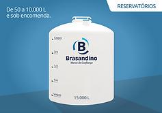 Reservatórios água produtos quimicos polietileno brasandino