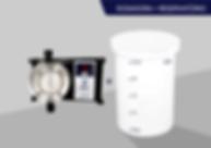 bomba dosadora eletromagnética digital reservatório polietileno água cloro fluor produtos químicos GECLOR BRASANDINO
