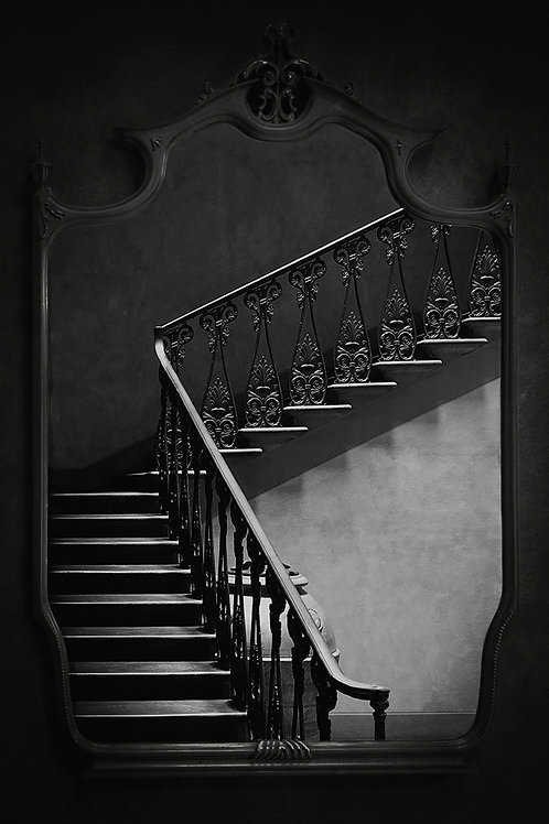 Stairwell Reflections Fine Art Print