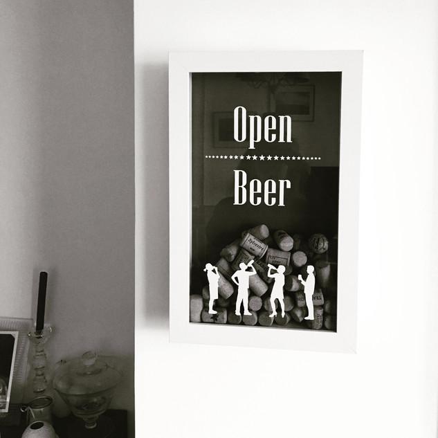 Vitrine à bouchons Open BEER