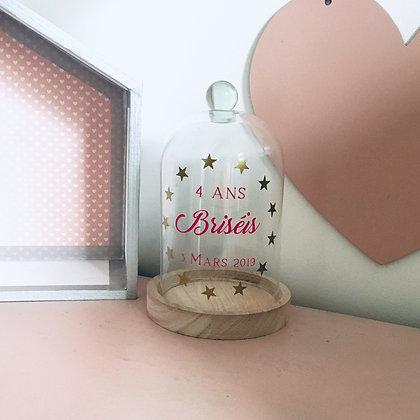 Cloche en verre décoration anniversaire