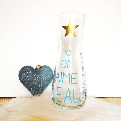 """Carafe """"Ici on aime l'eau"""""""