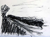 Journans 2005, 20x30, fusain, Christine Lévy-Rostagnat, (2)