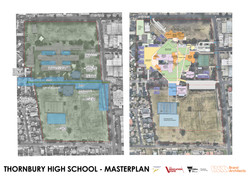 current and proposed site layout