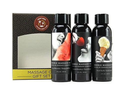 Edible Massage Oil 3pk Gift Set