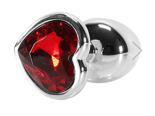 Red Heart Gem Anal Plug (small)