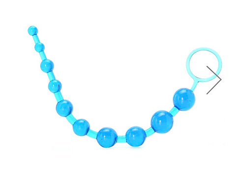 X-10 Anal Beads Blue