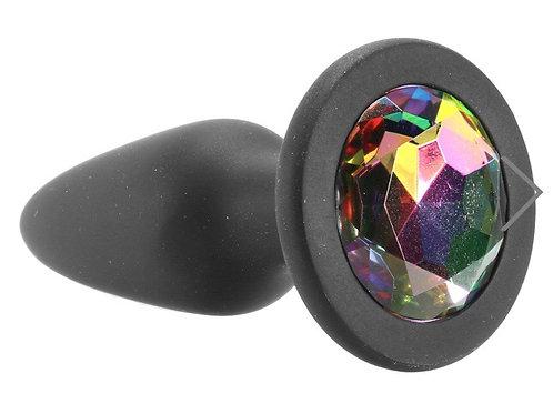 Rainbow Gem Silicone Anal Plug