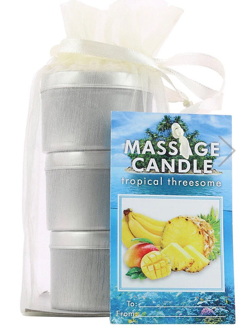 3 in 1 Massage Oil Gift bag Tropical