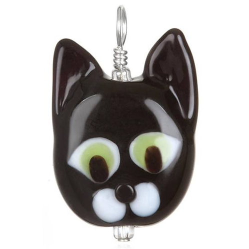 Cat Pendant Necklace on Leather