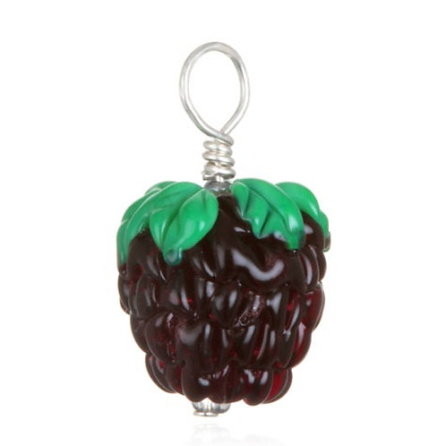 Blackberry Pendant Necklace on Leather