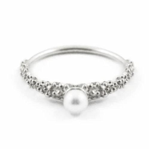 Grain Thin Pearl Ring