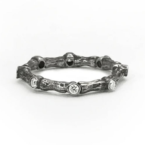 Bone Joint Diamond Ring