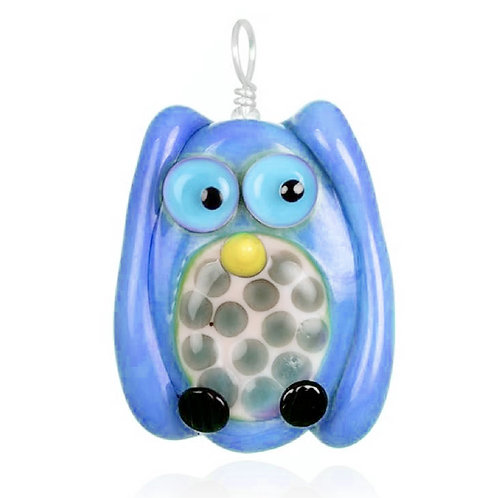 Owl Pendant Necklace on Leather