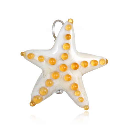 Starfish Pendant Necklace on Leather