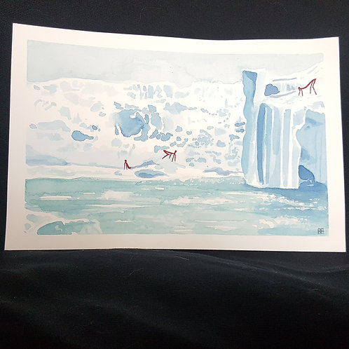 on the ice (original painting)