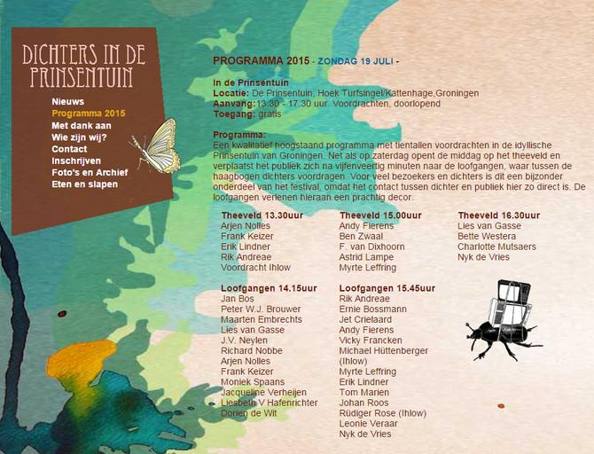 Programma Dichters in de Prinsentuin