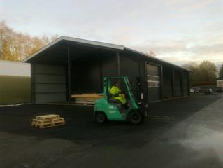 Etterlengtet lager og carport i Nannestad ferdig.