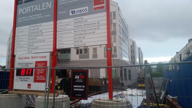 M-16 Akershus vaktselskap passer på Portalen i Lillestrøm