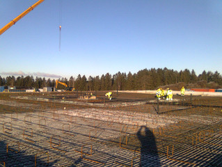 Stort stålbygg i Esvald Miljøpark Vormsund