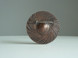 Round Copper Brooch Reverse Side