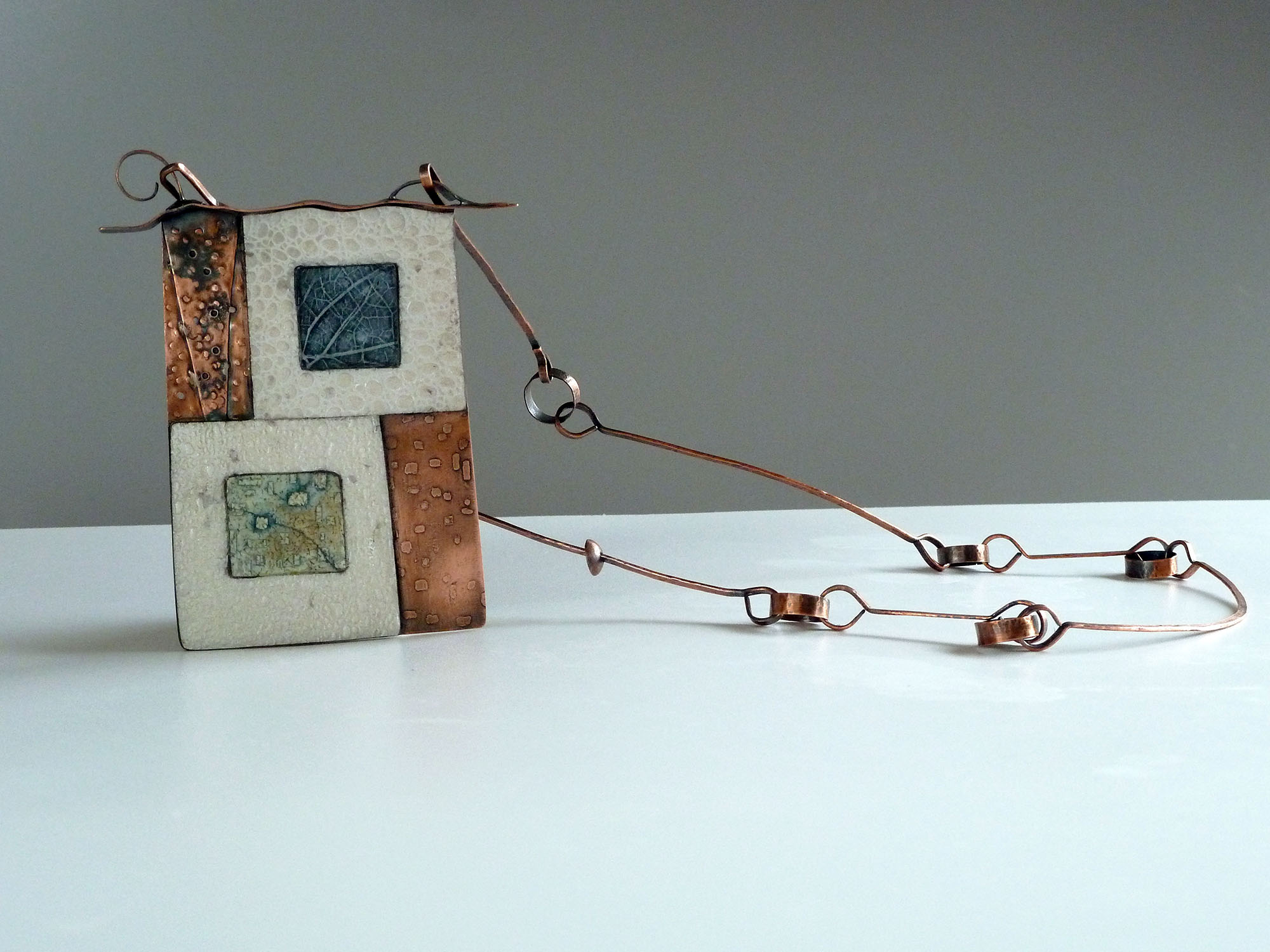 Copper Necklace and Polymer Clay