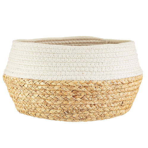 White Dip Rope and Grass Basket