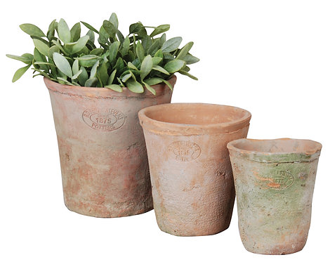 Round Aged TerracottaPots