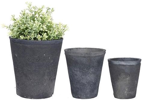 Grey Aged Terracotta Pots