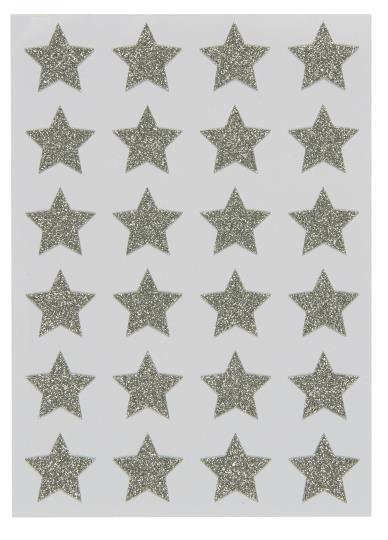 Sheet of 24 Star Stickers 3x3cm