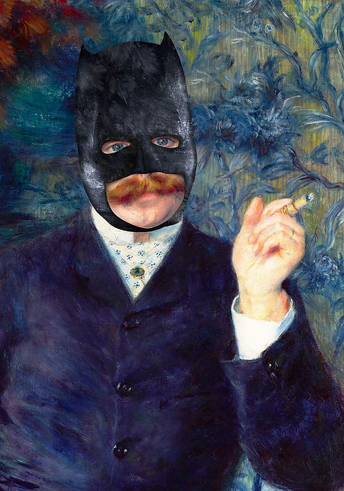 Vintage Batman Altered Art Print - Matte 40cm x 50cm