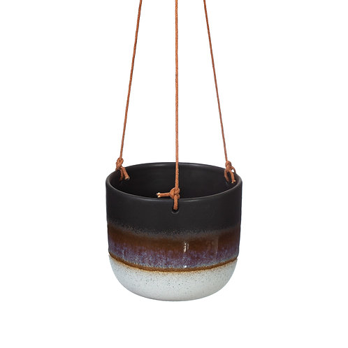 Mojave Black Hanging Planter