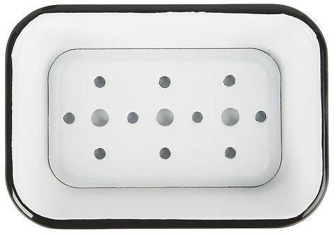 Two Part Enamel Soap Dish