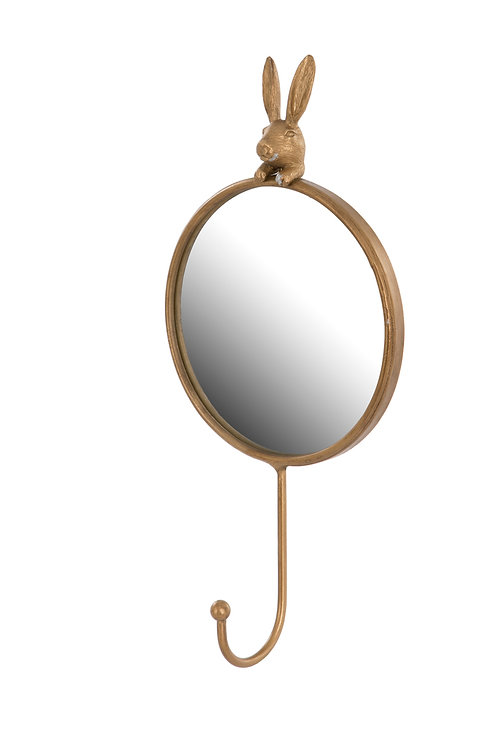 Hare Mirror With Hook 14.5cm x 5.5cm x 30.5cm