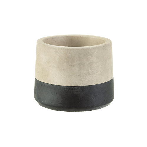 Small Black Dip Cement Planter