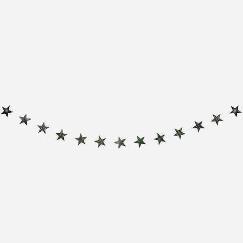 Printed Star Garland 3m