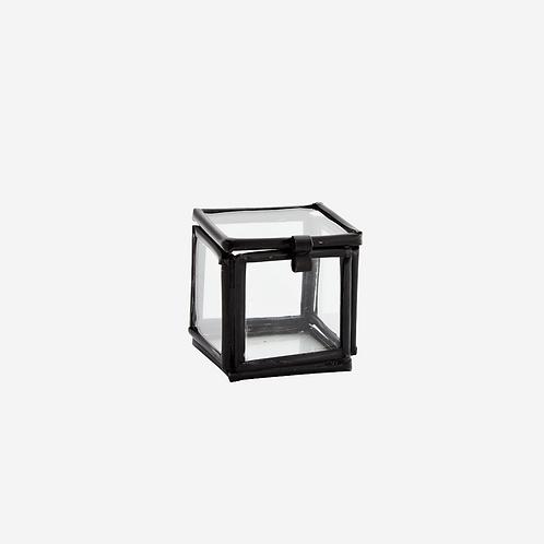Quadratic Glass Box - Black 3.5cm
