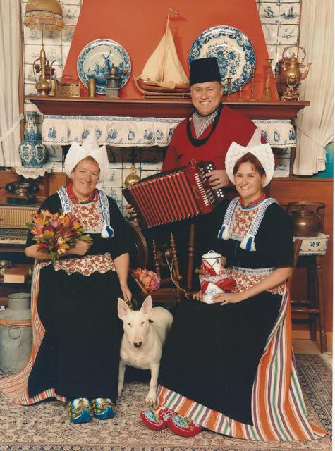 Visiting Volendam in the Netherlands with Alice van Kempen and Claire