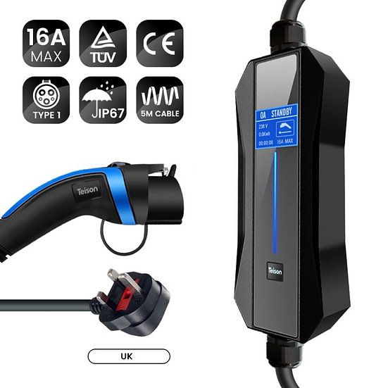 Teison 16 Amp Portable Fast Ev Charger Type1
