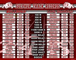 Sulphur (OK) Track Records 48x60 - 2019