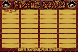 Byng BB Pirate Wars Board - 2019 PROOF