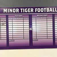 Minor (AL) FB Weekly Plan Board 2019 - L