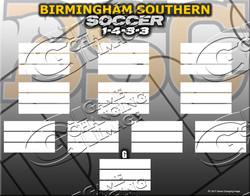 Birmingham Southern Soccer Lineup 14x11
