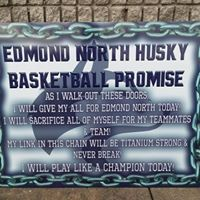 Edmond North WBKB MOT Sign 2 2018 - Live