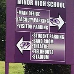 Minor (AL) High School Entrance Sign 201
