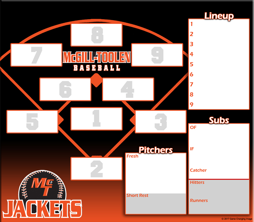 McGill Toolen Catholic B lineup 16x14 co